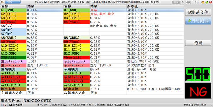 type-c数据线综合测试仪